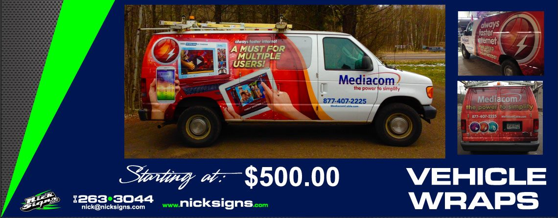 Vehicle Wrap – Mediacom